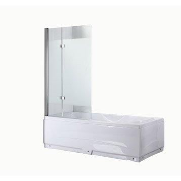 Pare-baignoire 2 volets verre de sécurité 5 mm transparent, Quadro3