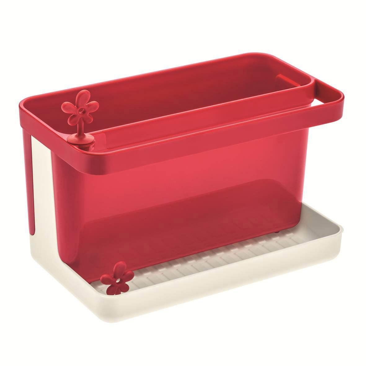 Bac rangement évier plastique rouge-rouge n°3