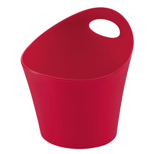 Pot range couverts plastique rouge rouge n 3 leroy merlin for Pot a couverts cuisine