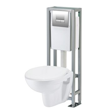 wc suspendu wc abattant et lave mains toilette leroy merlin. Black Bedroom Furniture Sets. Home Design Ideas