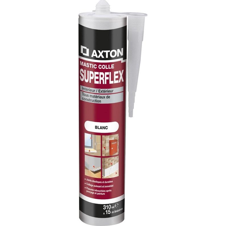 Mastic Colle Axton Superflex 310 Ml Blanc