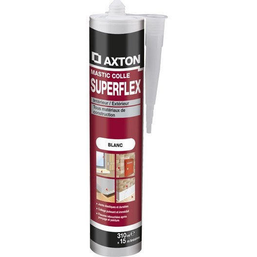 mastic axton superflex 310 ml blanc leroy merlin. Black Bedroom Furniture Sets. Home Design Ideas