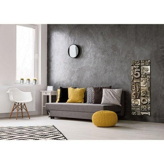 radiateur lectrique rayonnement decowatt sudoku 500 w leroy merlin. Black Bedroom Furniture Sets. Home Design Ideas
