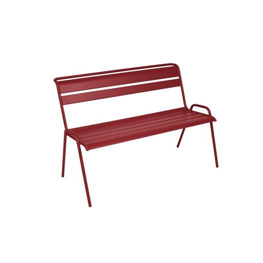 banc 2 places de jardin en acier monceau piment leroy merlin. Black Bedroom Furniture Sets. Home Design Ideas