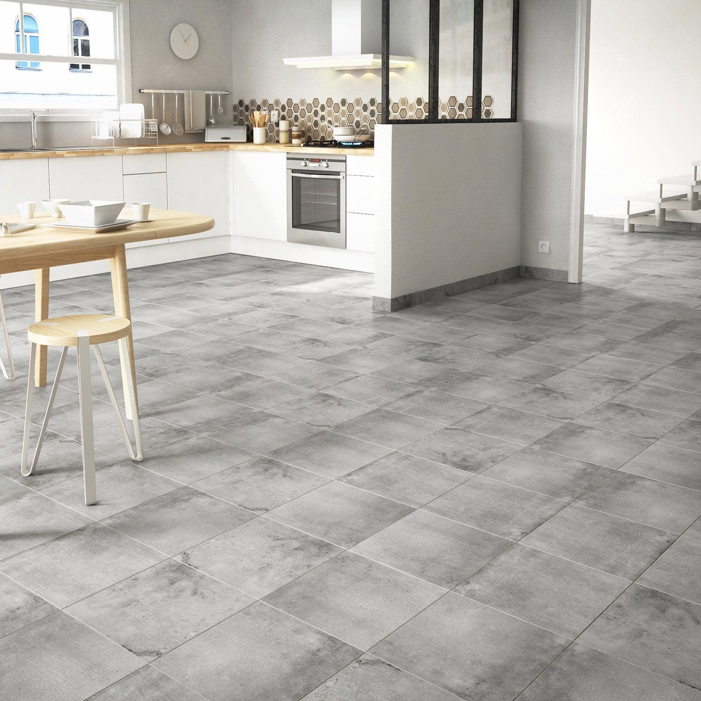 carrelage sol et mur gris effet b ton proton x cm leroy merlin. Black Bedroom Furniture Sets. Home Design Ideas