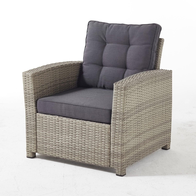 lot de 2 fauteuils de jardin en r sine daveport taupe. Black Bedroom Furniture Sets. Home Design Ideas