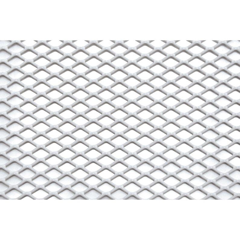 Tôle Aluminium Perforé époxy Blanc L 60 X L 100 Cm Ep 1 6 Mm