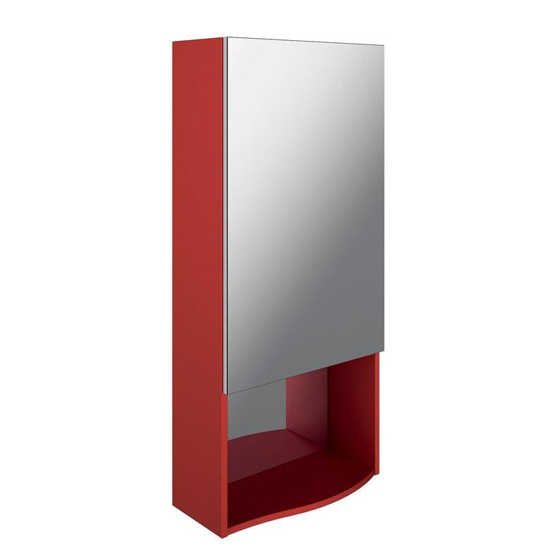 Colonne de salle de bains l.50 x H.110 x P.23.7 cm, rouge , Egérie ...
