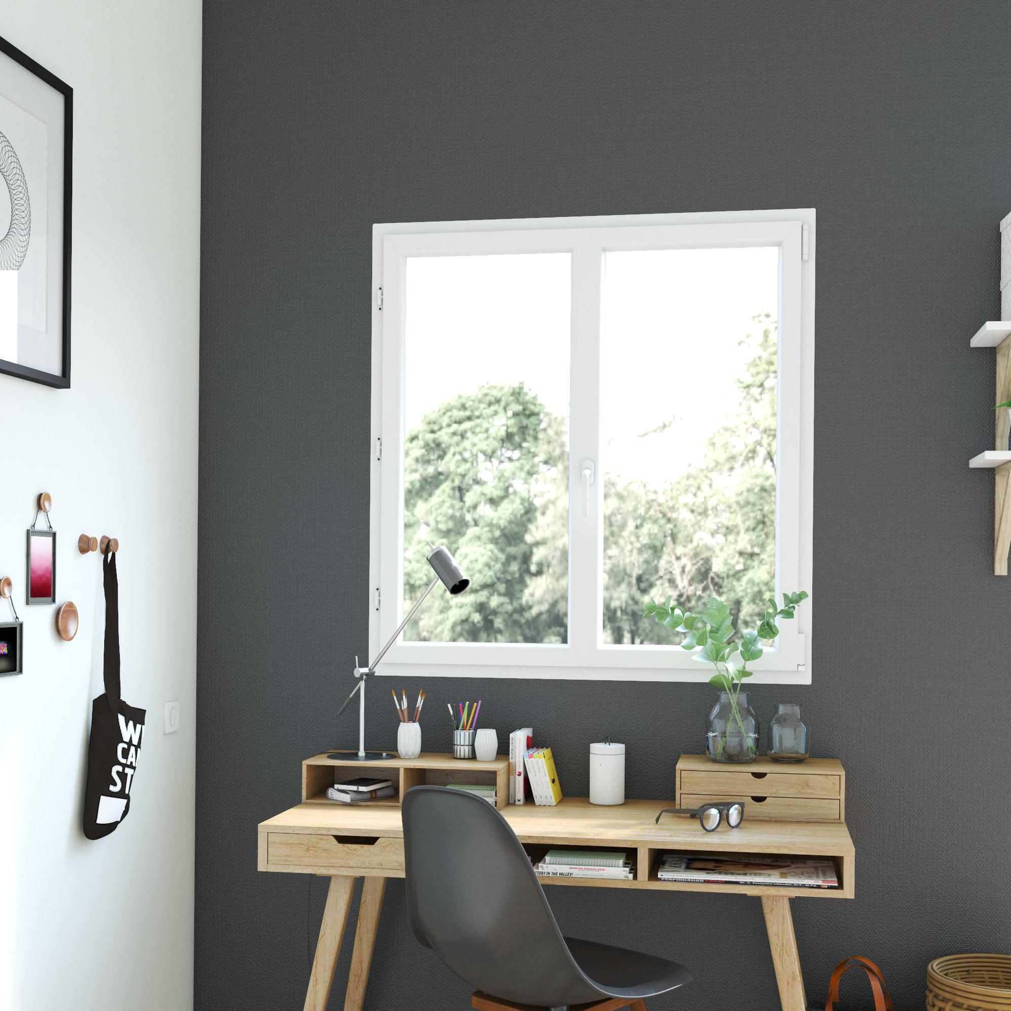 Cuisine Lumineuse Sans Fenetre fenêtre pvc h.125 x l.120 cm, blanc, 2 vantaux oscillo-battant tirant droit