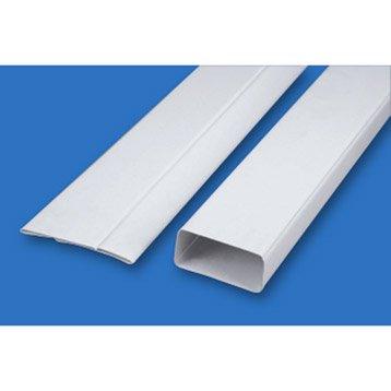 Tube rectangulaire rigide plat pvc S&P, Diam.100/100 mm, L.1.5 m Tpl 200