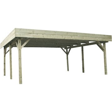 Carport en bois EVOLUTION, 31.05 m²
