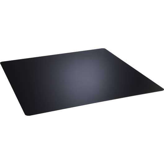 plaque de protection sol acier noir atelier dix neuf carr e x cm leroy merlin. Black Bedroom Furniture Sets. Home Design Ideas
