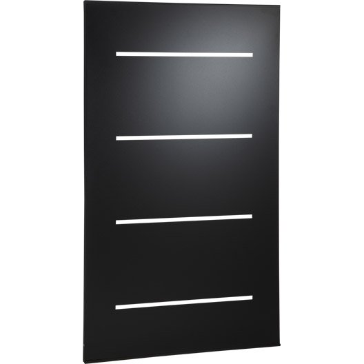 plaque de protection murale horizon noir cm leroy merlin. Black Bedroom Furniture Sets. Home Design Ideas