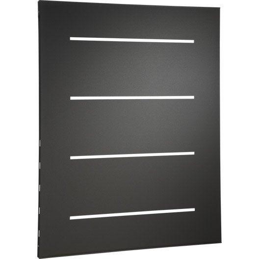 plaque de protection murale acier noir atelier dix neuf horizon x cm leroy merlin. Black Bedroom Furniture Sets. Home Design Ideas