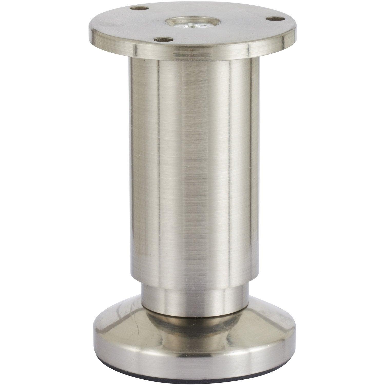 Pied De Meuble Cylindrique R Glable Aluminium Chrom Gris De 10  # Meuble Tv Pied Chrome