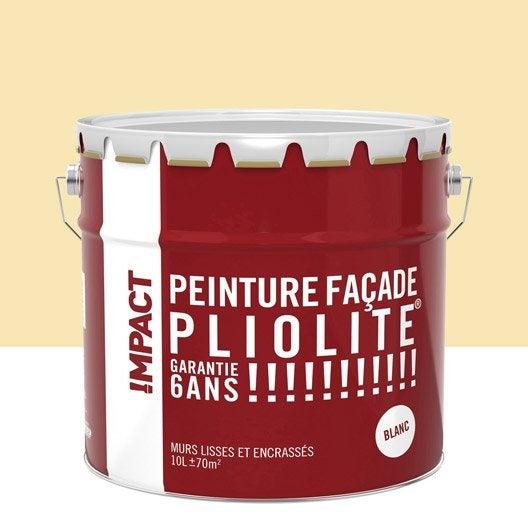 Peinture fa ade pliolite impact ton pierre 10 l leroy merlin - Peinture mur exterieur pliolite ...