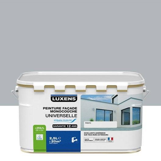 peinture facade universelle luxens gris cendre 25 l With couleur peinture mur exterieur 6 peinture facade universelle luxens gris cendre 10 l