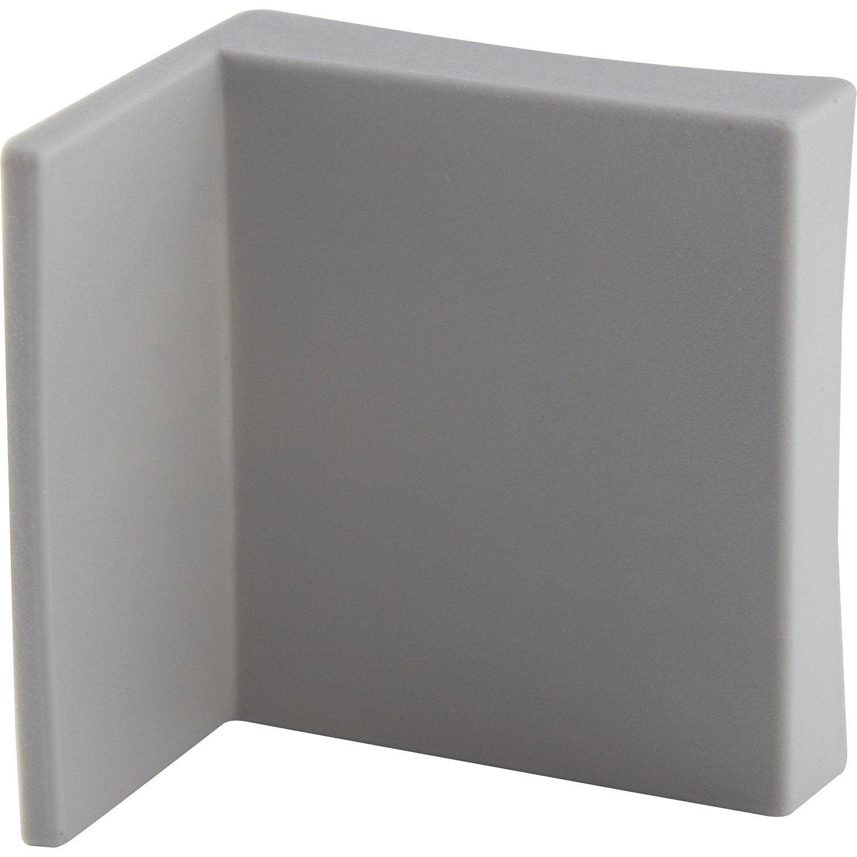 Equerre De Fixation Murale Multikaz Blanc H 5 X L 4 5 X P 3 5 Cm  # Tutoriel Fixation Murale Meuble