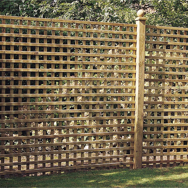 Palissade Bois Leroy Merlin Prix panneau treillis bois ajouré castille, l.180 cm x h.180 cm, marron