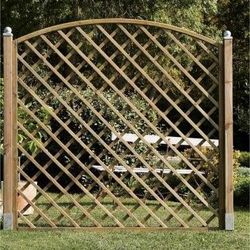 Panneau treillis bois ajouré Sonato, l.180 cm x h.180 cm, naturel