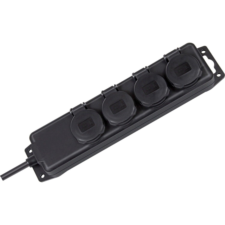 Multiprise filaire tanche 4 prises noir brennenstuhl - Multiprise 10 prises ...