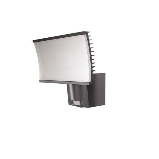 projecteur fixer d tection ext rieur noxlite led int gr e gris osram leroy merlin. Black Bedroom Furniture Sets. Home Design Ideas