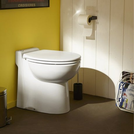Wc broyeur wc abattant et lave mains leroy merlin for Wc bidet leroy merlin
