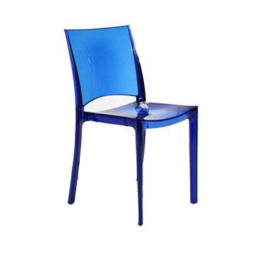 Chaise de jardin en polycarbonate Paris lux bleu
