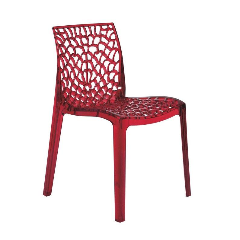 Chaise De Jardin En Polycarbonate Grafik Rouge Transparent
