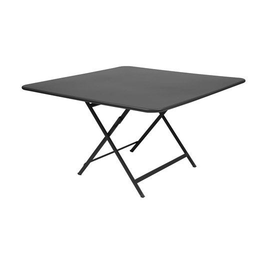 Table fermob cargo carr e carbone 8 personnes leroy merlin for Table 8 personnes carree