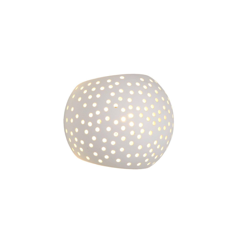applique, design g9 gipsy céramique blanc, 1 lucide | leroy merlin