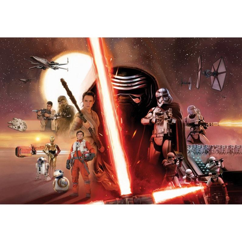 Photo Murale Star Wars Brun Orange Noir Papier Komar L 368 X H 254 Cm