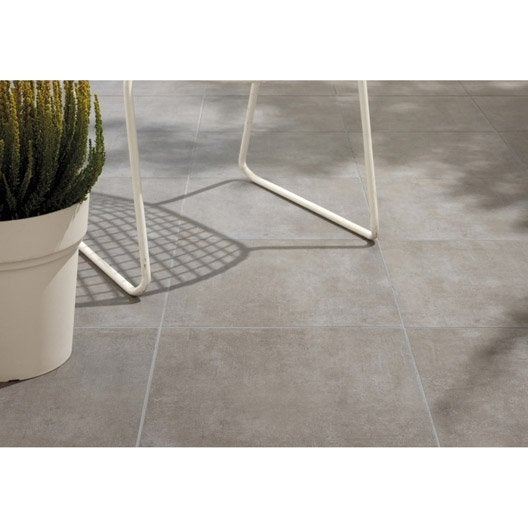 Carrelage sol gris alma x cm leroy merlin for Joint carrelage sol