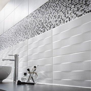 Carrelage mural et fa ence pour salle de bains et cr dence de cuisine leroy - Carrelage metro noir leroy merlin ...