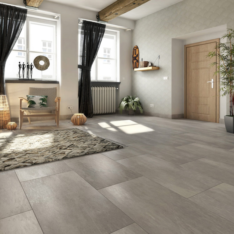 carrelage sol et mur gris effet pierre atmosphere x cm leroy merlin. Black Bedroom Furniture Sets. Home Design Ideas