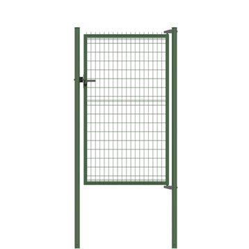 Portillon Soudé Bekafor classic vert H.1.73 x L.1.17m, maille 100x50mm