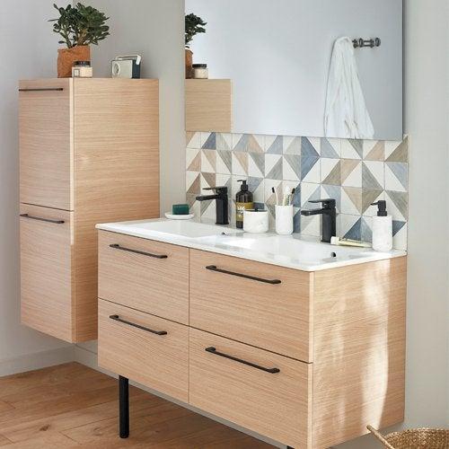 Meuble Salle de Bain Simple Vasque Pas Cher - Achat en ligne