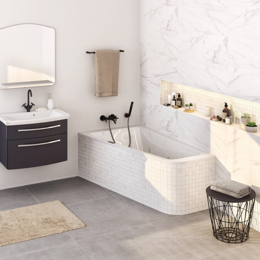 baignoire baln o asym trique cm jacob delafon. Black Bedroom Furniture Sets. Home Design Ideas