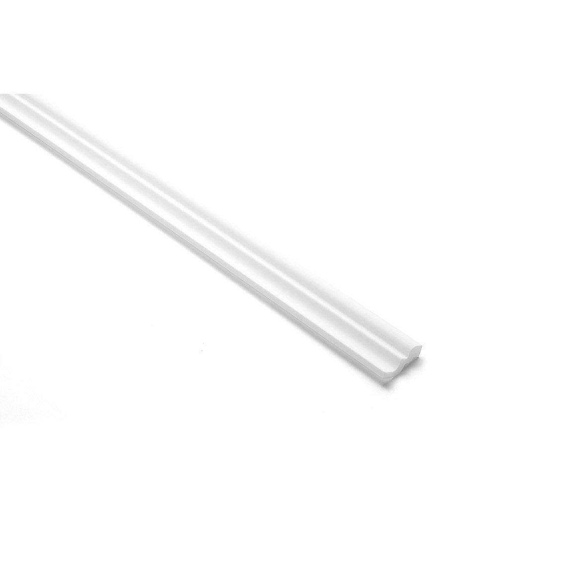 Corniche Polystyrène Pour Led moulure d 13, lot de 2, l.200 x l.5 cm
