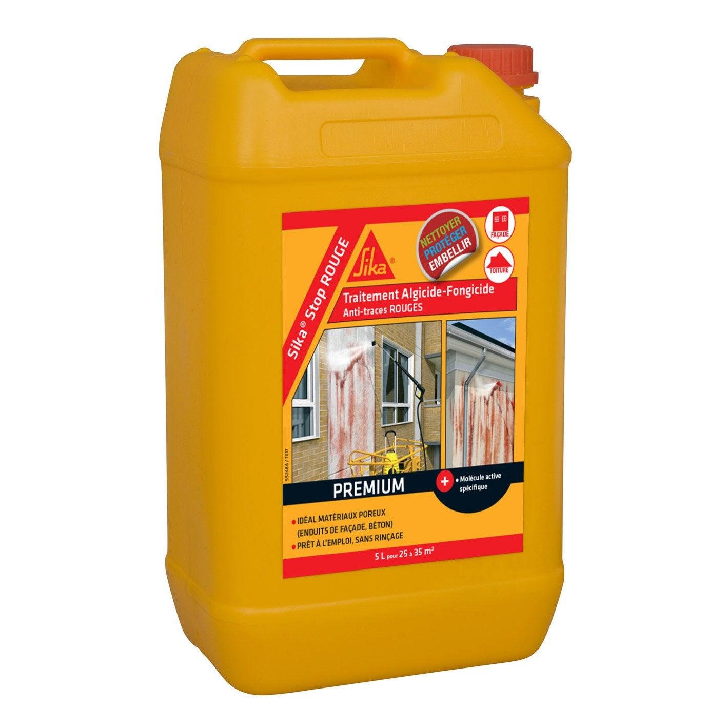 Anti Mousse Terrasse Beton traitement spécial antialgues rouges sika, 5 l