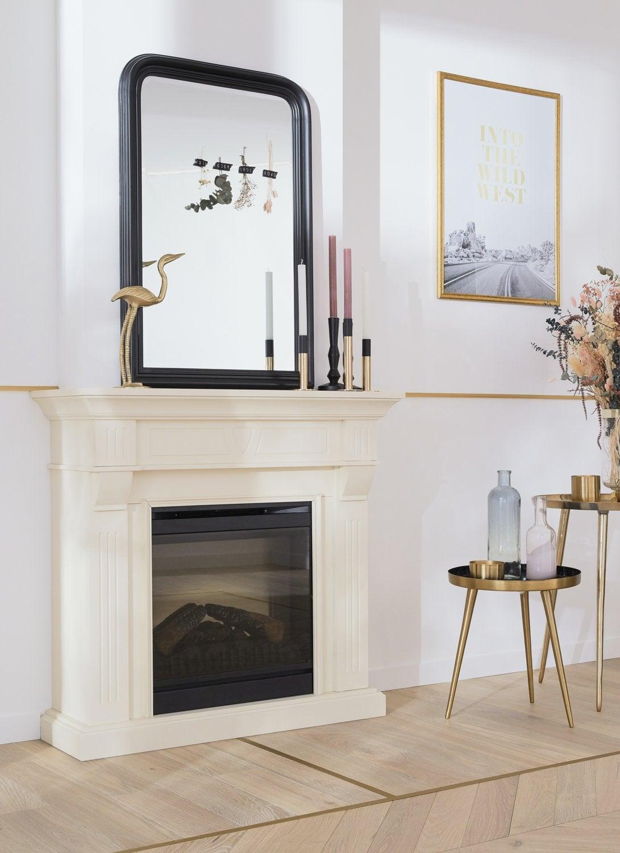Grand Miroir D Entrée un grand miroir classique à poser sur la cheminée | leroy merlin