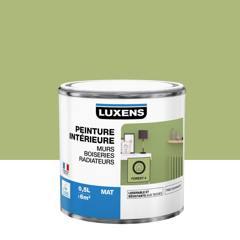 Peinture mur, boiserie, radiateur Multisupports LUXENS forest 4 mat 0.5 l