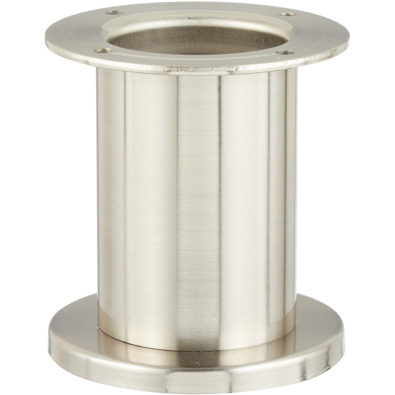 pied de meuble cylindrique fixe acier bross gris 10 cm leroy merlin. Black Bedroom Furniture Sets. Home Design Ideas