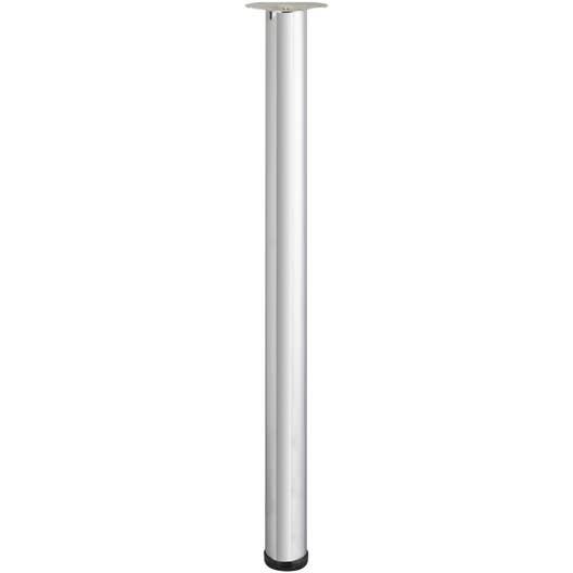 pied de table cylindrique r glable acier chrom gris de 110 113 cm leroy merlin. Black Bedroom Furniture Sets. Home Design Ideas