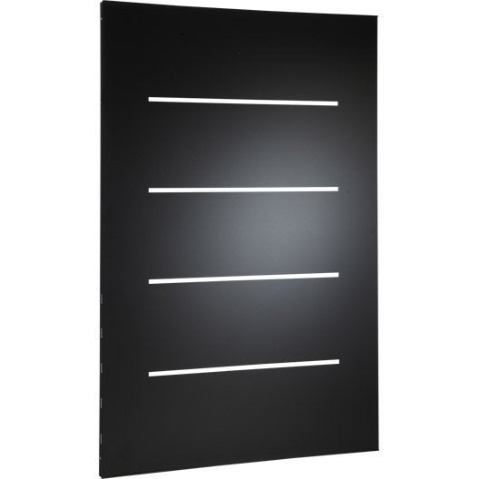 plaque de protection murale acier noir atelier dix neuf horizon x cm leroy merlin. Black Bedroom Furniture Sets. Home Design Ideas