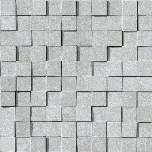 Mosa Que Mur Factory 3d Gris Leroy Merlin