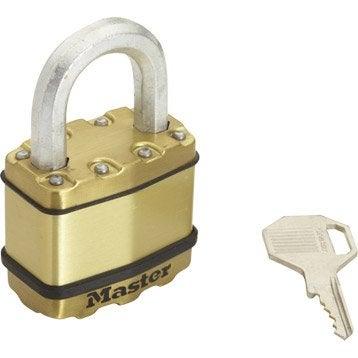 Cadenas à clé MASTERLOCK acier laminé, l.50 mm