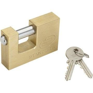 Cadenas à clé STANDERS laiton, l.75 mm