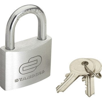 Cadenas à clé STANDERS aluminium, l.40 mm