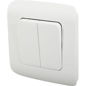 Double interrupteur va-et-vient Cosy, LEXMAN, blanc